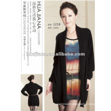 fashion cashmere sweater dress suit for elegant ladies