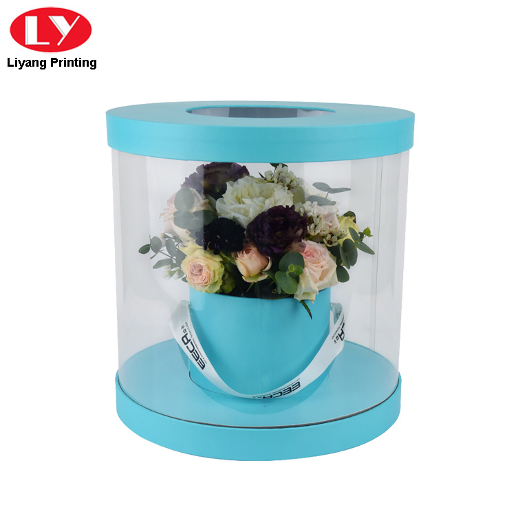 Round Flower Box Clear