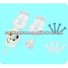 25 мм D тип пластиковых кронштейн роликовые жалюзи сцепления, занавес аксессуаров, мини-слепых компонентов