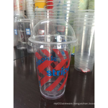 Disposable Plastic Smoothie Cups, Domed Lids & Straws