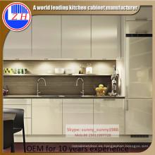 2016 Nuevo gabinete de cocina de madera de acrílico