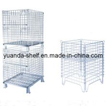 Warehouse Wire Mesh Folding Storage Metal Cage