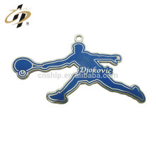 Promotional Cheap Customized sports tennis metal charms and pendant