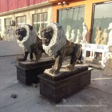 outdoor decorative big lion statues for sale