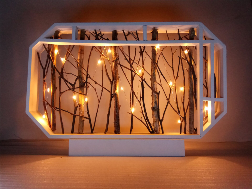 silver copper wire led string lights