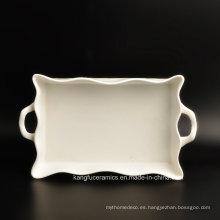 Placa de cena popular de la porcelana del diseño