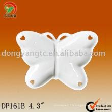 Plaque en forme de papillon en céramique logo personnalisé