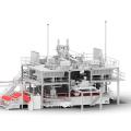 Máquina para fabricar telas no tejidas SMS Spunbond