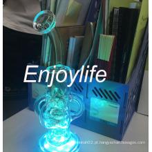 Fab Egg fumar tubo de vidro de água com cores LED Light