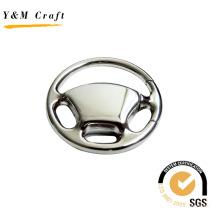 Wholesale Keychain New Design Steering Wheel Metal Key Ring Keychain (Y02423)