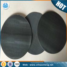 20 40 60 80 mesh 255mm diameter black wire cloth packs plastic extruder filter screen pack
