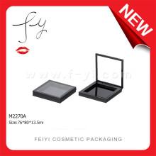 Moda simples quadrado preto plástico transparente Shadow Container