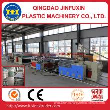 Línea de producción de tablero de espuma de corteza de construcción de PVC