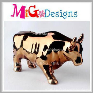 Top Sale Cute Bull Shaped Ceramic Money Piggy Bank