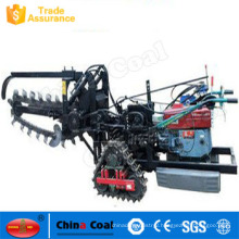 Walking type ditching machine, Crawler ditching machine