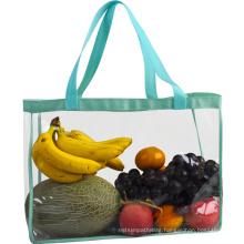 wholesale waterproof transparent pvc gift shopper bag with print