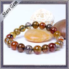 La colorida pulsera de piedra de ágata natural