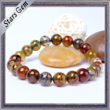Красочный очаровательный браслет из натурального агата из камня