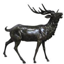 Black resin deer reindeer life size fiberglass elk statue