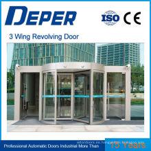 3 y 4 alas puerta giratoria automática