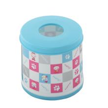 Runde Bicolor Plastikgewebebox (FF-5011-1)