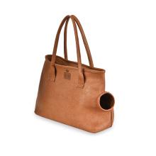 Portable Pet Carrying Bag Outdoor Travel Cat Carrying Bag Pet Carrier Pu Leather Pet Carry Bag