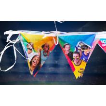 OEM Polyester Banner String Flag for Birthday Party
