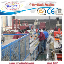 Plastic conical double screw extruder line for PVC WPC profile produce