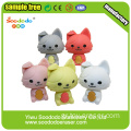 Pink Fold Ear Cat Shaped Eraser ,Office Stationery Eraser
