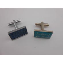 Praça Cufflinks personalizados Metal Stampe Logo Cufflink (GZHY-XK-015)