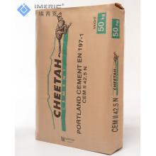50 kg recycelter Blockboden aus weißem PP-Ventilbeutel