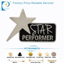 Star Performance Zinc Alloy Custom Badge Pin de Chine