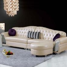 Estilo europeu moderno apartamento pequeno sala sofá de canto de couro
