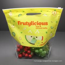 Factory Wholesale Zipper Top Plastic Bag Fresh Keeping Fruit Vegetable Packaging Bag