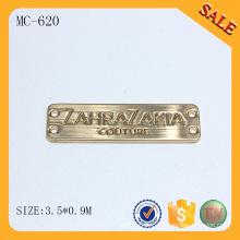 MC620 Créateur de logo en forme d'or logo personnalisé logo en métal