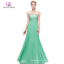 Grace Karin Strapless Backless Beaded Long Aqua Prom Dress CL3083-3