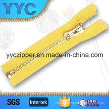 Fermeture à glissière en métal à dents de maïs fermé pour vêtements personnalisés