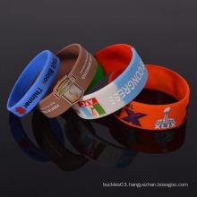 Customized silicone rubber wristband fabulous bracelets for promotion