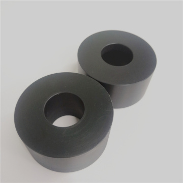 POM Acetal Roller Hollow Bar Preto / Branco