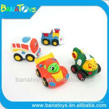 Brinquedo bonito do carro do atrito do brinquedo dos desenhos animados de 4 estilos