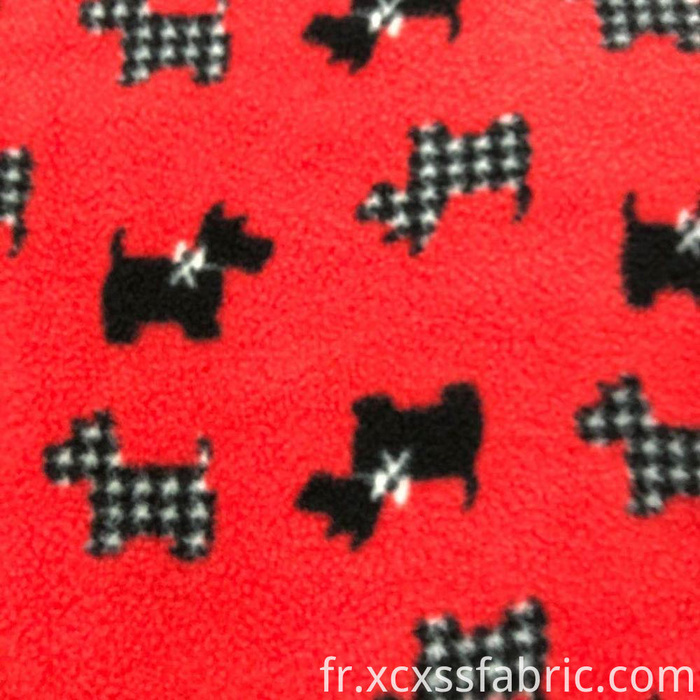 printed micro polar fleece fabric