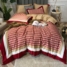 Luxurious High Quality Bedding Set Cotton Brushed Fabric Soft for Single Bed Bedsheet