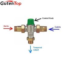 Vanne de mélange thermostatique de valve de contrôle matériel en laiton de Gutentop