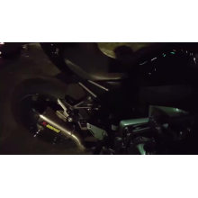 Hot Racing Motorrad Auspuff Mittleren Rohrsystem Fall Für Kawa Z900 Schalldämpfer Rohr Vorne Kopf Rohr Slip-On Mit Sensor
