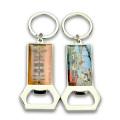 Wholesale cheap Custom beer bottle opener keychain