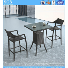 PE Rattan Bar Furniture Outdoor Bar Table and Stools