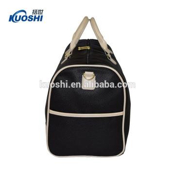 custom classic travel duffel bag in leather material