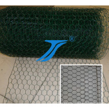 Высокое качество Покрынная PVC Шестиугольная Ячеистая сеть gabion Сделано в Китае