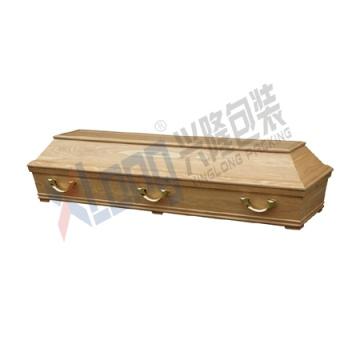 Placage de chêne intérieur velours de coton assemblés prêt Coffin