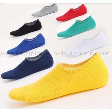 OEM Wholesale Pure Colour Cotton Silicone Antiskid Invisible Boat Socks